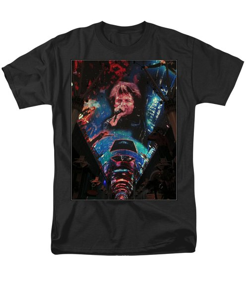 Fremont Street Experience Men's T-Shirt  (Regular Fit) by Kay Novy