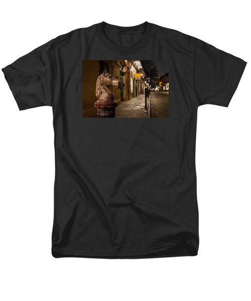 French Quarter Hitching Post Men's T-Shirt  (Regular Fit) by Tim Stanley