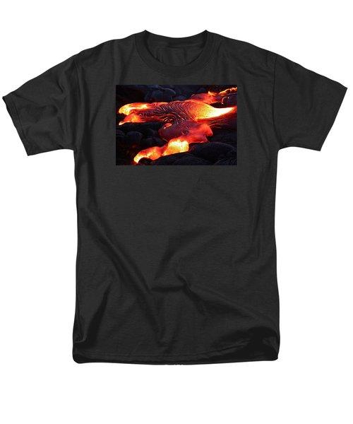 Fresh Lava Flow Men's T-Shirt  (Regular Fit) by Venetia Featherstone-Witty