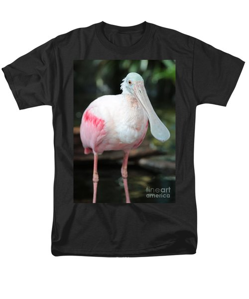 Friendly Spoonbill Men's T-Shirt  (Regular Fit) by Carol Groenen