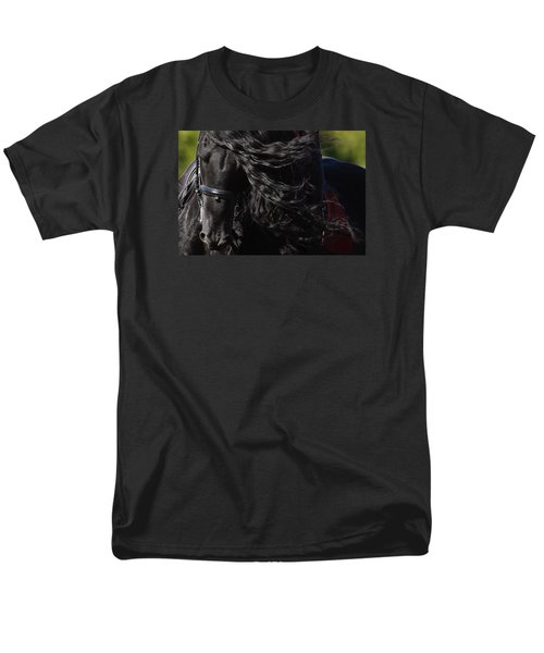 Men's T-Shirt  (Regular Fit) featuring the photograph Friesian Beauty D8197 by Wes and Dotty Weber