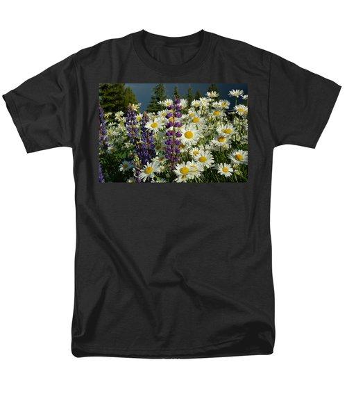 Men's T-Shirt  (Regular Fit) featuring the photograph Frisco Flowers by Lynn Bauer