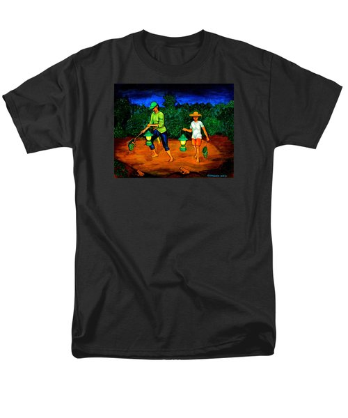 Men's T-Shirt  (Regular Fit) featuring the painting Frog Hunters by Cyril Maza