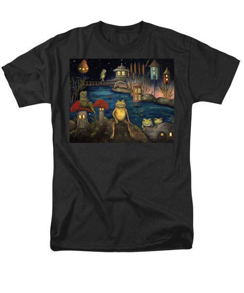 Frogland Men's T-Shirt  (Regular Fit) by Leah Saulnier The Painting Maniac
