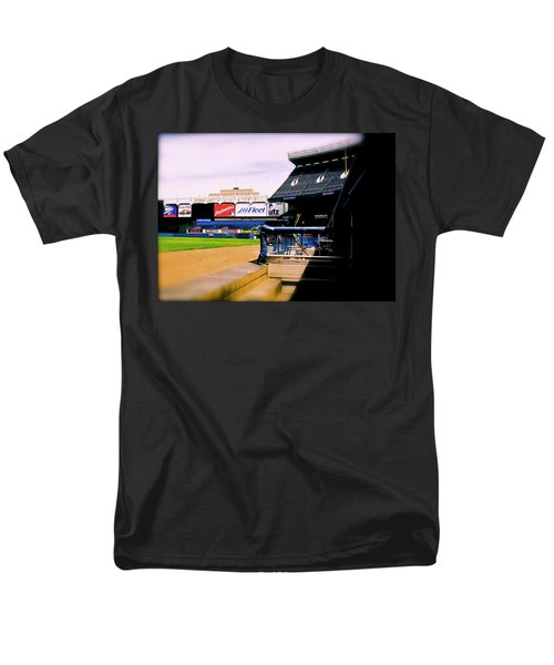 Men's T-Shirt  (Regular Fit) featuring the photograph From The Dugout  The Yankee Stadium by Iconic Images Art Gallery David Pucciarelli