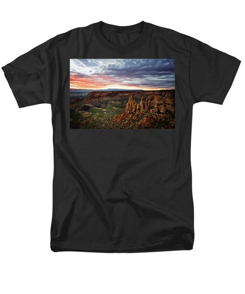 From The Overlook - Colorado National Monument Men's T-Shirt  (Regular Fit) by Ronda Kimbrow