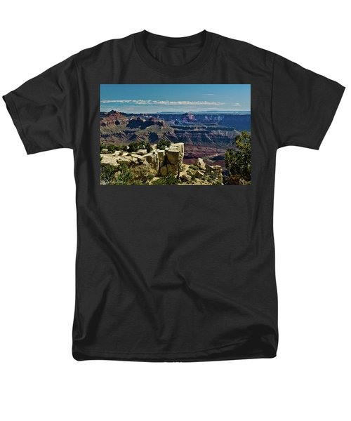 Men's T-Shirt  (Regular Fit) featuring the photograph From Yaki Point 2 Grand Canyon by Bob and Nadine Johnston