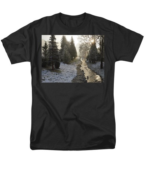 Men's T-Shirt  (Regular Fit) featuring the painting Frozen Light by Felicia Tica