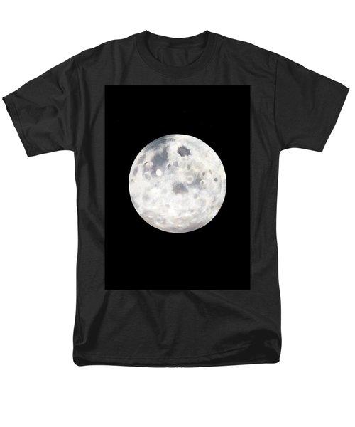 Full Moon In Black Night Men's T-Shirt  (Regular Fit)
