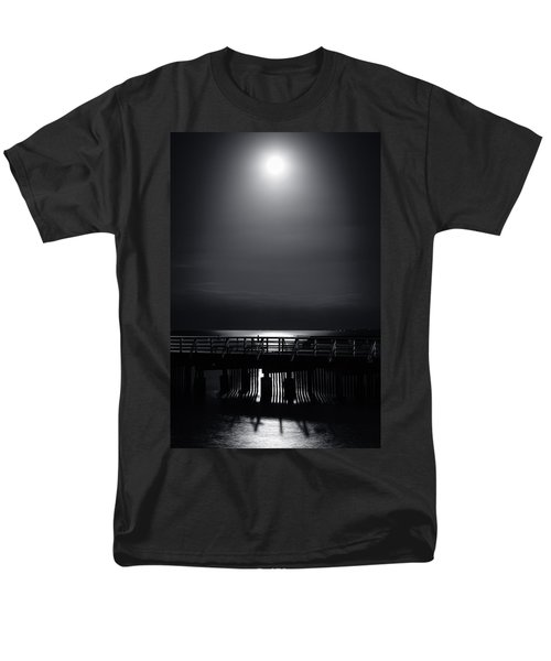 Full Moon Over Bramble Bay Men's T-Shirt  (Regular Fit) by Peta Thames