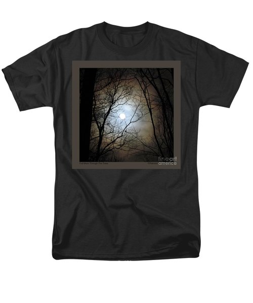 Full Moon Through The Trees Men's T-Shirt  (Regular Fit) by Patricia Overmoyer