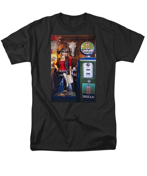Full Service Route 66 Gas Station Men's T-Shirt  (Regular Fit) by Priscilla Burgers