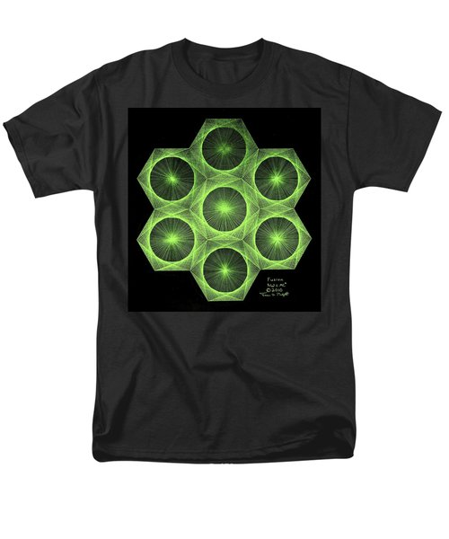 Men's T-Shirt  (Regular Fit) featuring the drawing Fusion  by Jason Padgett