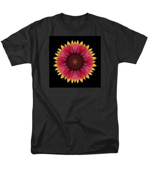 Men's T-Shirt  (Regular Fit) featuring the photograph Galliardia Arizona Sun Flower Mandala by David J Bookbinder
