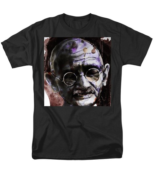 Men's T-Shirt  (Regular Fit) featuring the painting Gandhi by Laur Iduc