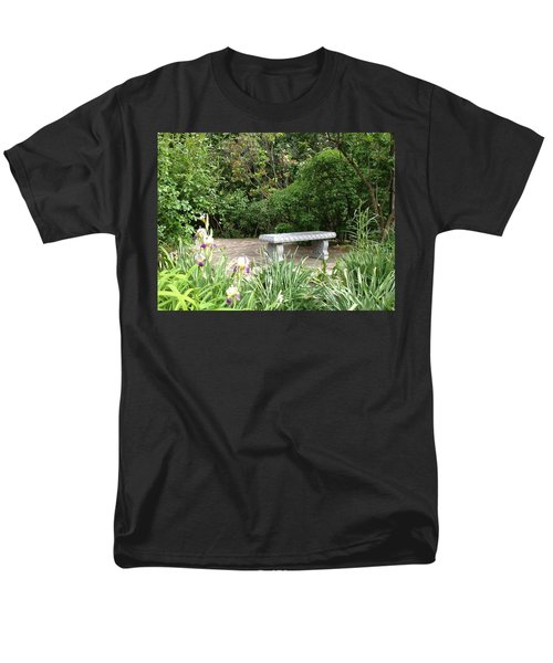 Garden Bench Men's T-Shirt  (Regular Fit) by Pema Hou