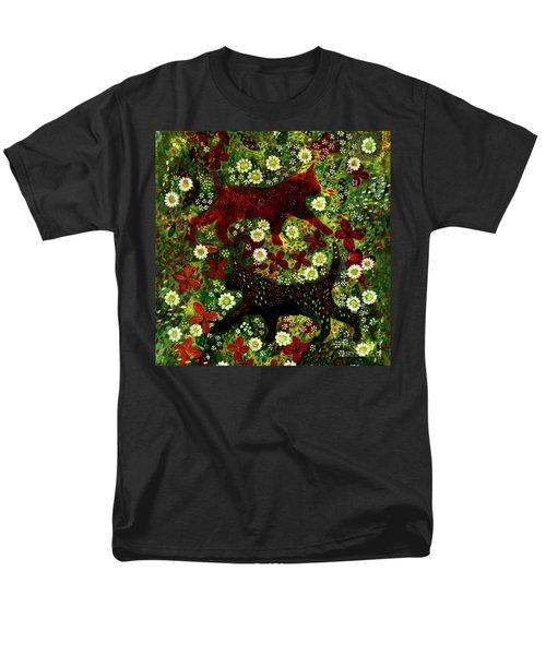 Garden Cats Men's T-Shirt  (Regular Fit) by Barbara Moignard