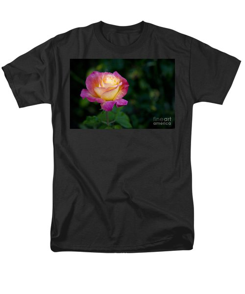 Garden Tea Rose Men's T-Shirt  (Regular Fit) by David Millenheft