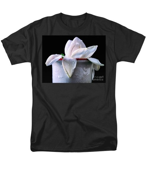 Men's T-Shirt  (Regular Fit) featuring the photograph Gardenia In Coffee Cup by Silvia Ganora