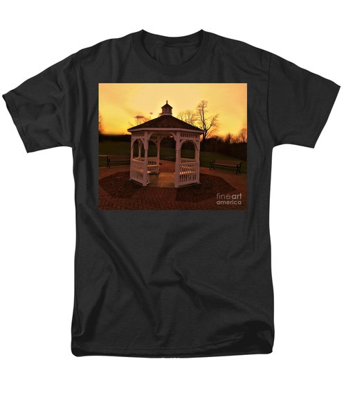Men's T-Shirt  (Regular Fit) featuring the photograph Gazebo In Sunset by Becky Lupe
