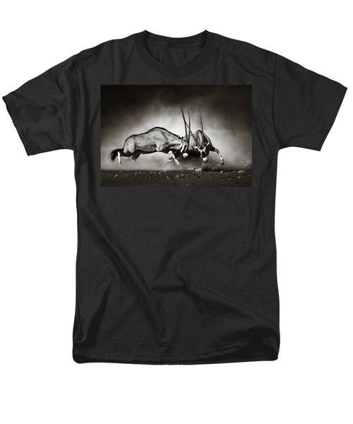 Gemsbok Fight Men's T-Shirt  (Regular Fit) by Johan Swanepoel