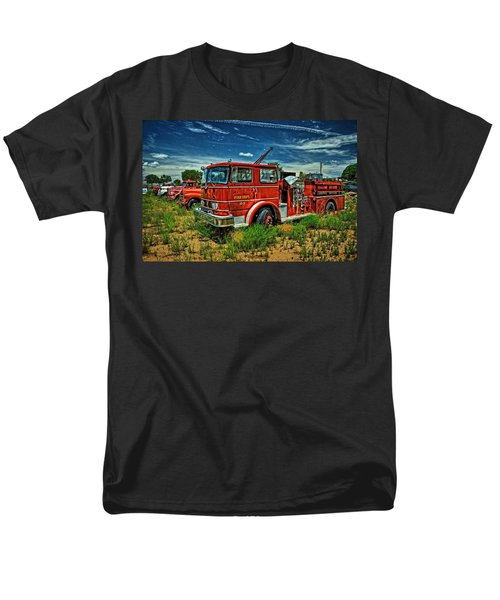 Men's T-Shirt  (Regular Fit) featuring the photograph Generations Of Fire Fighting Equipment by Ken Smith