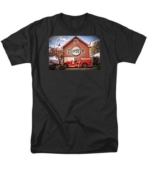 Geneva On The Lake Firehouse Men's T-Shirt  (Regular Fit) by The Art of Alice Terrill