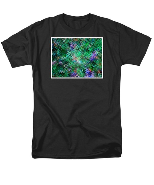 Geometric Abstract Men's T-Shirt  (Regular Fit) by Mariarosa Rockefeller