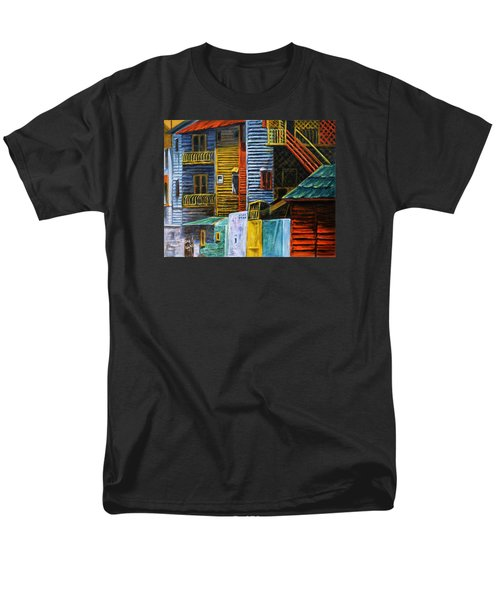Men's T-Shirt  (Regular Fit) featuring the painting Geometric Colours I by Xueling Zou
