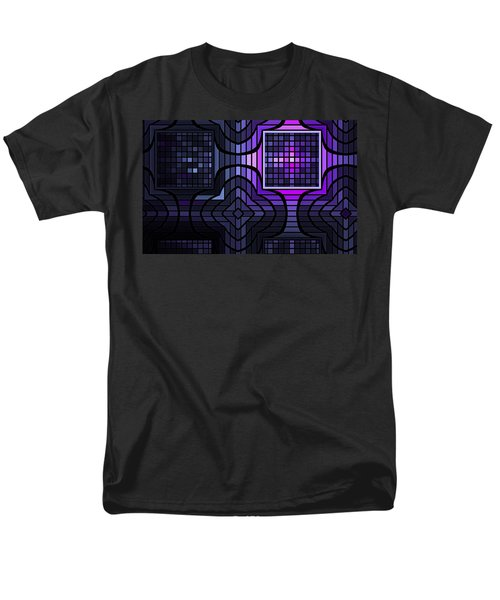 Men's T-Shirt  (Regular Fit) featuring the digital art Geometric Stained Glass by GJ Blackman