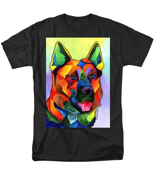 German Shepherd Men's T-Shirt  (Regular Fit) by Sherry Shipley