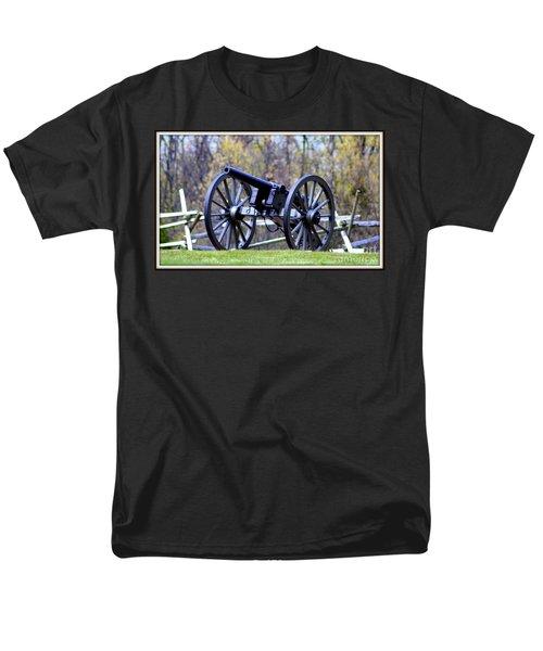 Men's T-Shirt  (Regular Fit) featuring the photograph Gettysburg Battlefield Cannon by Patti Whitten