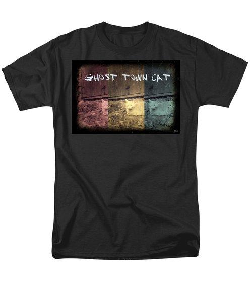 Men's T-Shirt  (Regular Fit) featuring the photograph Ghost Town Cat by Absinthe Art By Michelle LeAnn Scott