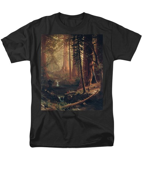 Giant Redwood Trees Of California Men's T-Shirt  (Regular Fit) by Albert Bierstadt