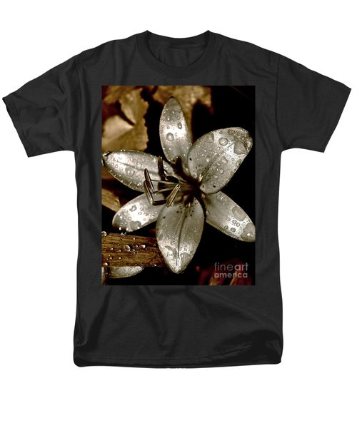 Men's T-Shirt  (Regular Fit) featuring the photograph Gilded  Lilies 2 by Linda Bianic
