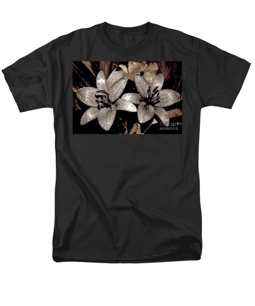 Men's T-Shirt  (Regular Fit) featuring the photograph Gilded Lilies by Linda Bianic