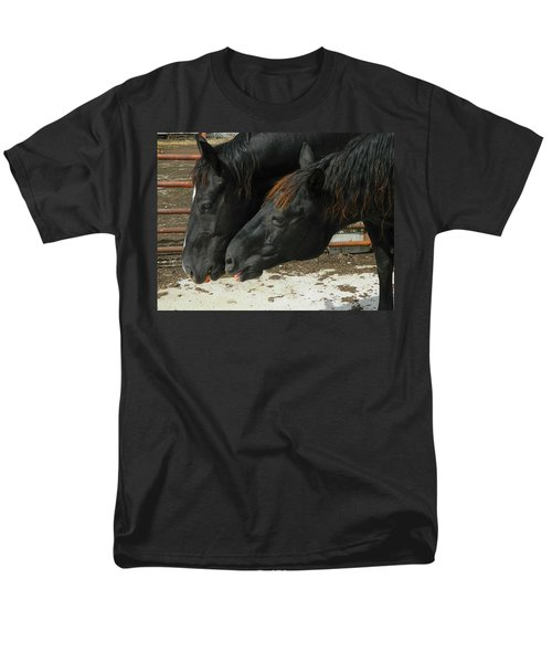 Men's T-Shirt  (Regular Fit) featuring the photograph Gimme That Apple by Kathy Barney