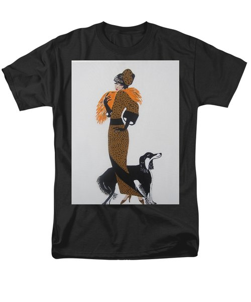 Men's T-Shirt  (Regular Fit) featuring the painting Girl With Orange Fur by Nora Shepley