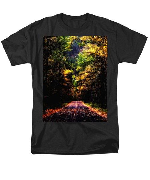 Glacier Fall Road Men's T-Shirt  (Regular Fit) by Susan Kinney