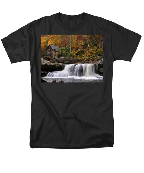 Glade Creek Grist Mill - Photo Men's T-Shirt  (Regular Fit) by Chris Flees