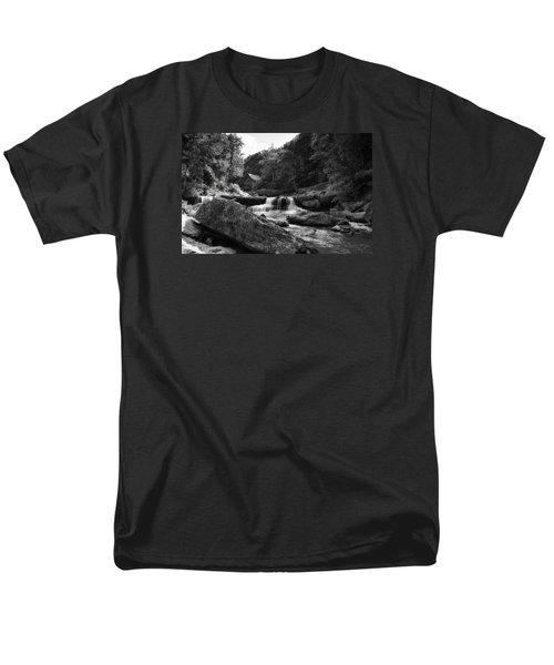 Glade Creek Waterfall Men's T-Shirt  (Regular Fit) by Shelly Gunderson