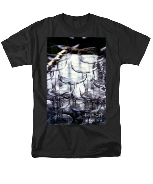 Men's T-Shirt  (Regular Fit) featuring the photograph New Orleans Toast To The New Year 2017 Abstract by Michael Hoard