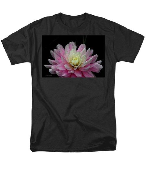 Glistening Dahlia Radiance Men's T-Shirt  (Regular Fit) by Jeanette C Landstrom