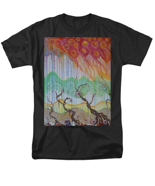 Men's T-Shirt  (Regular Fit) featuring the mixed media Climate Change, The Final Chapter by Douglas Fromm