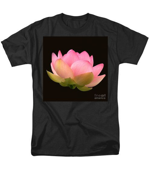 Glowing Lotus Square Frame Men's T-Shirt  (Regular Fit) by Byron Varvarigos