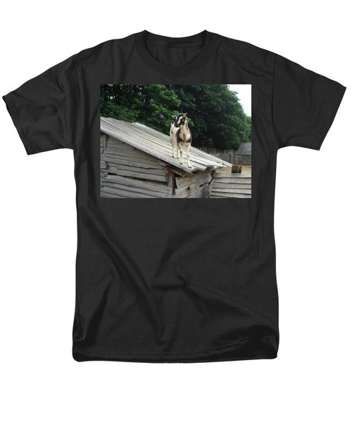 Men's T-Shirt  (Regular Fit) featuring the photograph Goat On The Roof by Kerri Mortenson