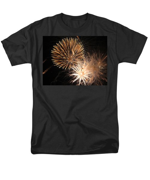 Golden Fireworks Men's T-Shirt  (Regular Fit) by Rowana Ray