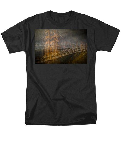 Golden Gate Chaos Men's T-Shirt  (Regular Fit) by Linda Villers