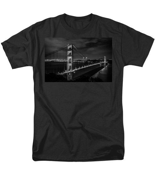 Golden Gate Evening- Mono Men's T-Shirt  (Regular Fit) by Linda Villers