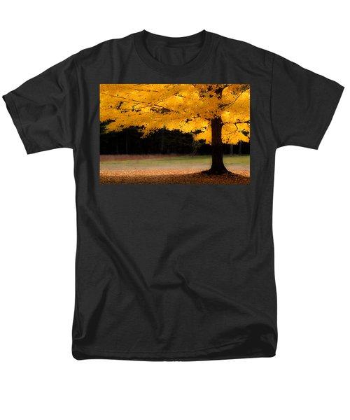 Golden Glow Of Autumn Fall Colors Men's T-Shirt  (Regular Fit) by Jeff Folger